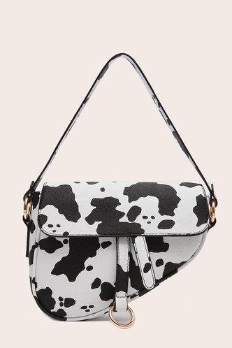 front_Theresia Elva Cow Print Shoulder Bag