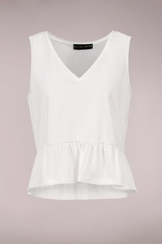 back_Steady Love White Sleeveless Top