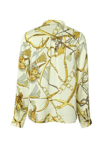 back_Amelia Edwina Apricot Floral Print Split Neck Shirt