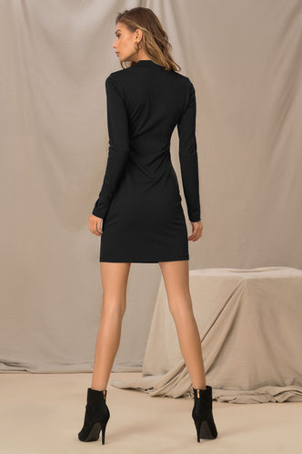 back_Annabelle Edwina Black Bodycon Dress