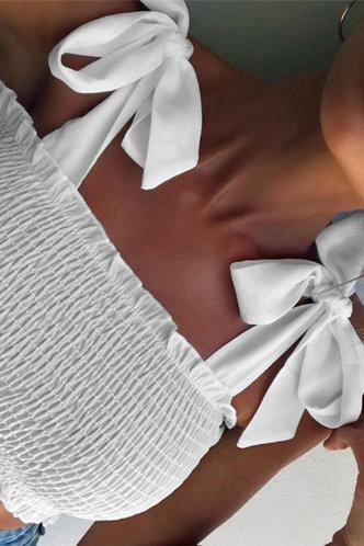 front_Alexandrina Eileen White Tie Shoulder Top