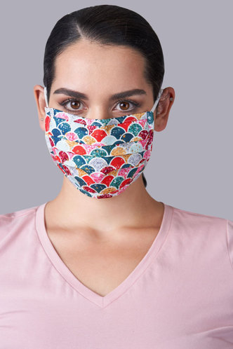 front_Non-medical Pattern Cotton Reusable Face Mask With Filter Pocket
