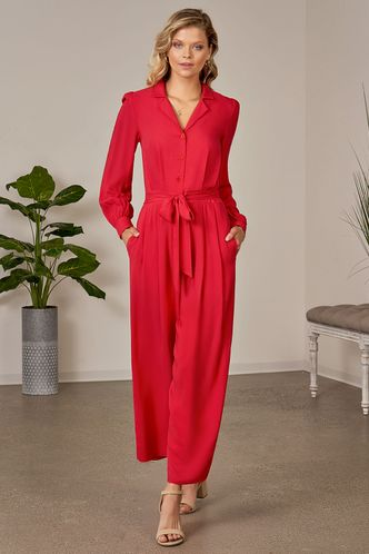 front_Suzanne Red Jumpsuit
