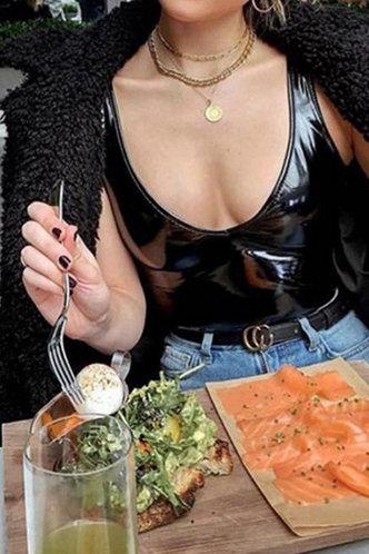 back_Geneva Eleanore Black Bodysuit