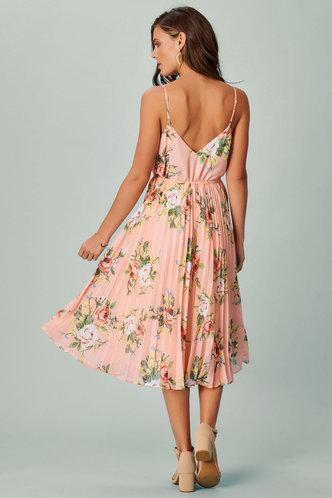 back_Pretty in Pleats {Color} Midi Dress