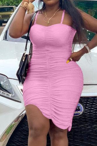 front_Deidre Esther Pink Cami Bodycon Dress