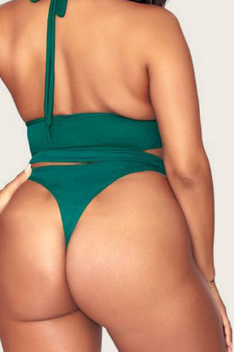 back_Gretchen Elvira Green Plus Tankini