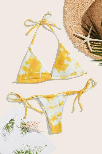 front_Karla Edwina Yellow Tie Dye Bikini