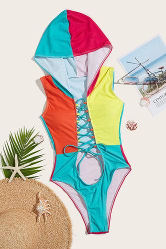 back_Clementine Elma Colorblock One-Piece Swimsuit