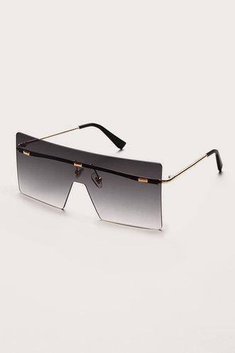 back_Gertie Eleanore Grey Gradient Square Frame Sunglasses