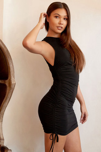 front_All Night Black Mini Dress
