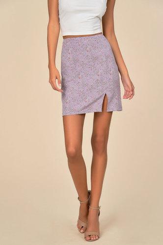front_Ditsy Floral Split Skirt