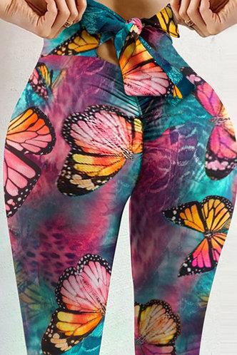 back_Alice Eleanore Tie Dye Butterfly Print Plus Leggings