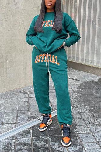 back_Adrienne Fiskan Teal Plus Size Pants Set