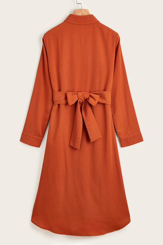 back_Martha Eileen Rust Red Dress