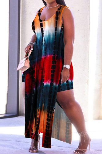 back_Stacey Enid Tie Dye Plus Dress With Shorts