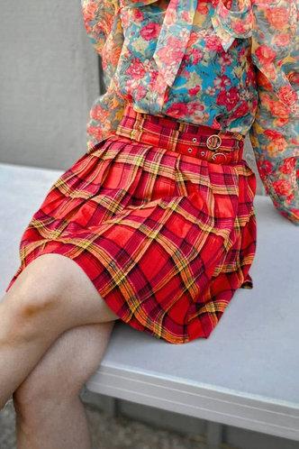 back_Sigrid Edwina Red Plaid Skirt
