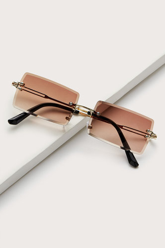 front_Square Brown Glasses & Eyewear accessories