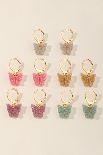 back_Inge Eleanore Gold Butterfly Drop Earrings