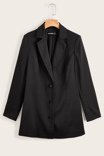 back_Bursting with Glam Black Blazer Jacket