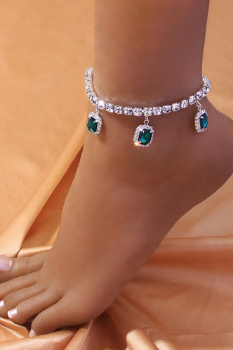 front_Casual Rainstone Silver Body Jewelry