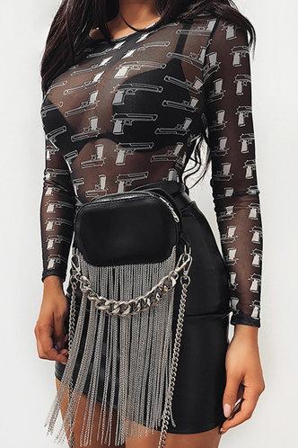 front_Paz Eleanore Black Bodysuit