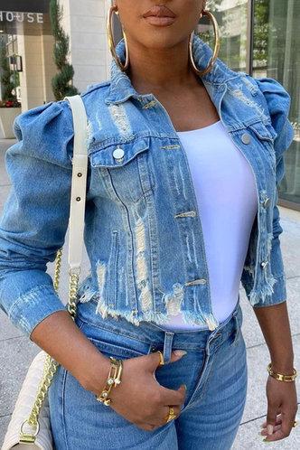 front_Bianca Eudora Wash Light Blue Jacket