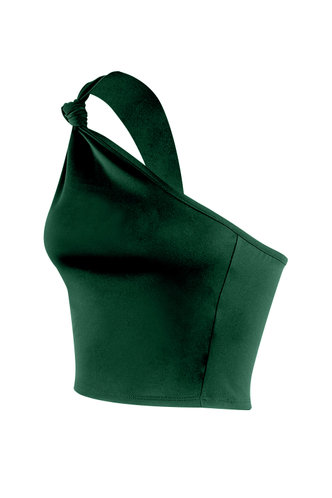 back_Goddess Forest Green Sleevess Top