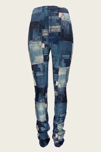 back_Juliet Eleanore Blue Colorblock Plus Size Jean