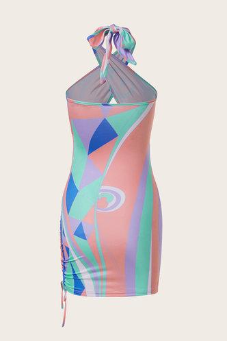 back_Sabina Emma Pink Halter Bodycon Dress