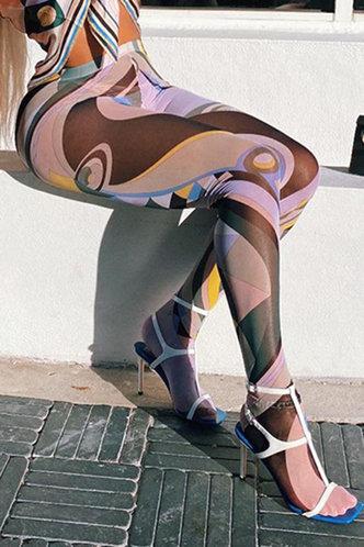 front_Chelsea Elsa Geo Print Leggings