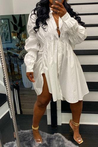 back_Raven Evangeline White Button Up Blouse