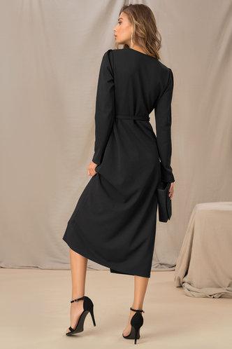 back_nana Black Solid Dress