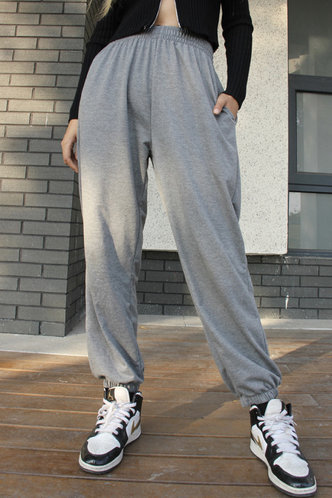 back_Be Easy Grey Sweatpants