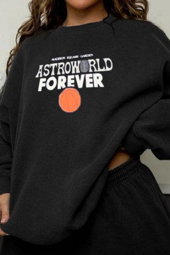 front_Dione Eartha Black Sweatshirt