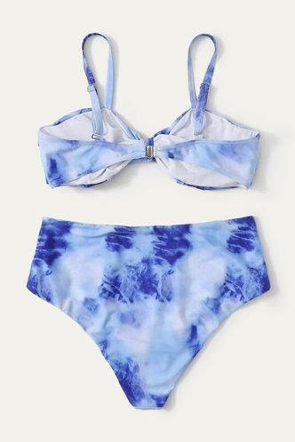 back_Vera Elizabeth Blue Tie Dye Plus Bikini