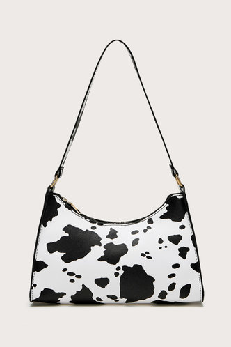 front_Daphne Edith Cow Print Shoulder Bag