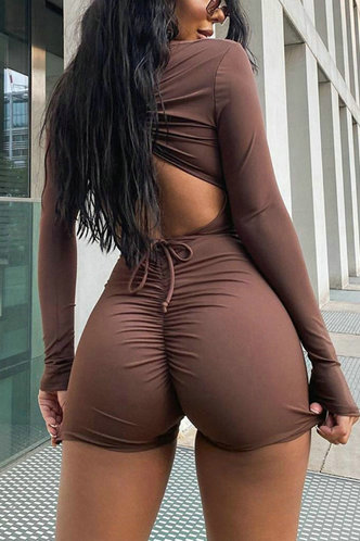 back_Hortensia Brown Open Back Romper