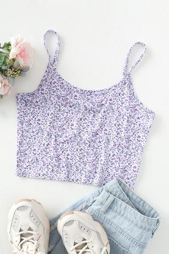 back_Jillian Edwina Purple Disty Print Crop Cami