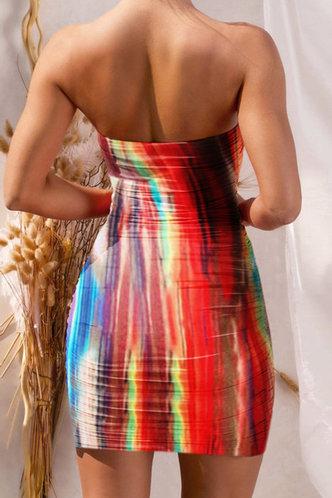 back_Carmela Elsa Rainbow Tie Dye Flounce Hem Tube Dress