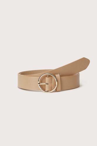 front_Tessa Elsie Khaki O-ring Buckle Belt