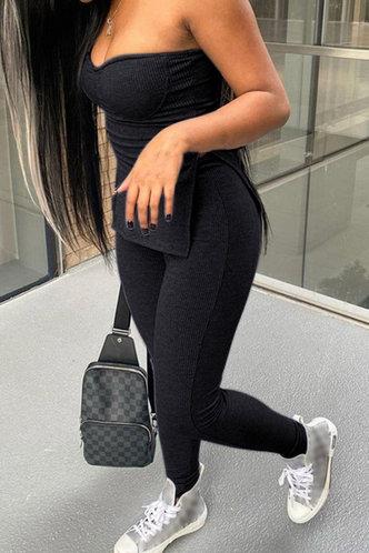 front_Albertine Eve Black Pants Set