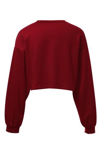 back_Burn Rubber Red Crop Sweatshirt