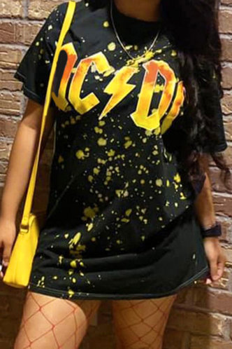 front_Alta Elizabeth Black And Yellow Tee