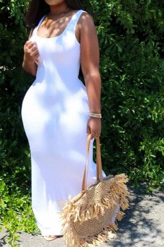 front_Esther Gimik White Maxi Bodycon Dress
