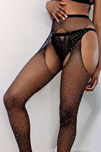front_Flo Eleanore Black Mesh Tights