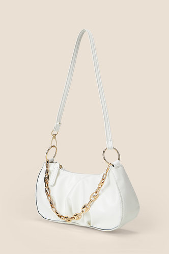 back_Christine Elaine White Shoulder Bag
