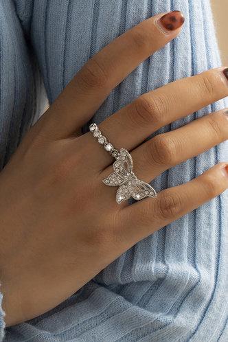 front_Babette Eleanore Sliver Ring 2pcs