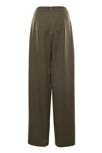 back_Back On Top Army Green Wrap Pants