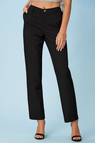 front_Modern Menagerie Black Pants